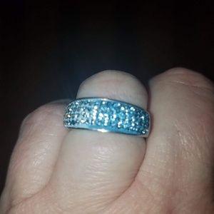 Swarovski ombre crystal ring